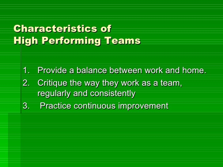 Characteristics of high performing teams for A frame house characteristics