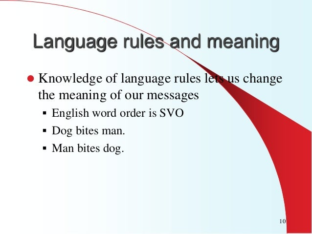 characteristics of the human language 1 language characteristics mar 27, 2006 in this lecture • overview of the characteristics of different languages/language types – languages vs dialects.