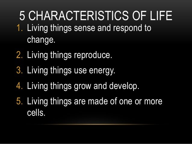 Biology Lecture Notes – Characteristics of Living Things