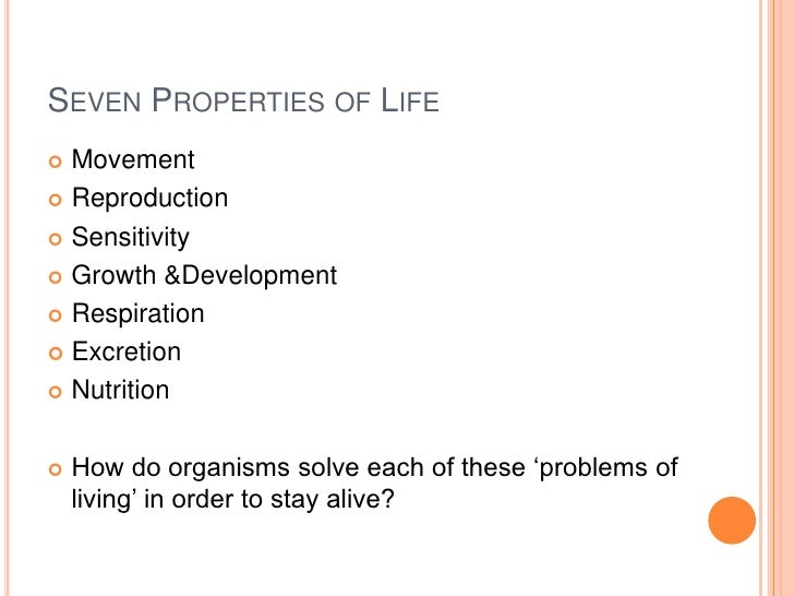 Characteristics of life r1
