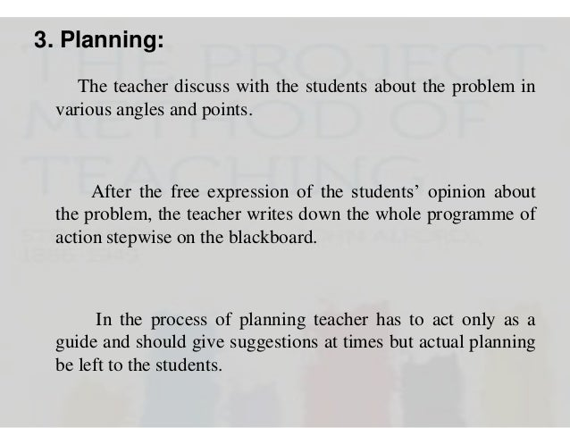 3. Planning: The teacher discuss with the students about the problem in various angles and points.  After the free express...