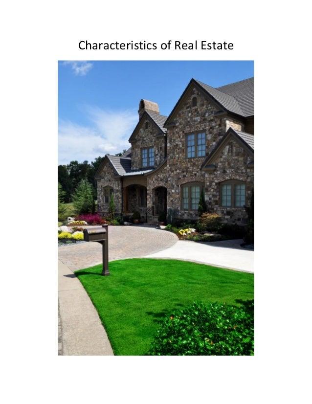 Characteristics of Real Estate