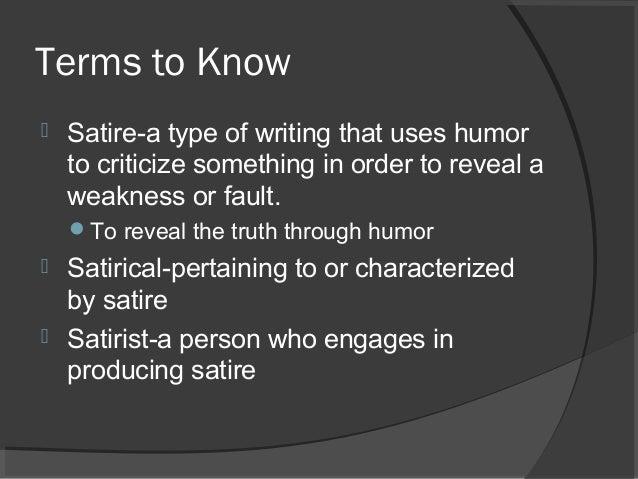 Characteristics Of The Satire Genre