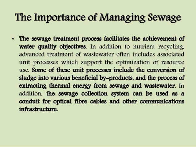 importance of wastewater management