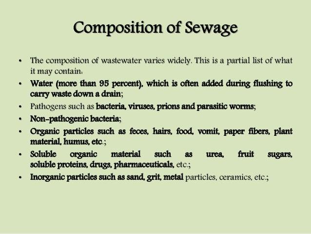 Characteristics Of Waste Water Unit I