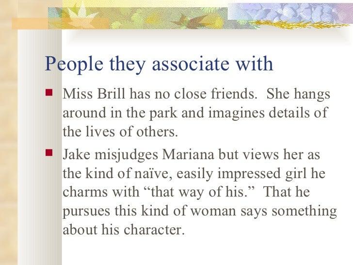 miss brill character traits