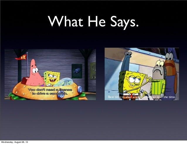Spongebob Characterization