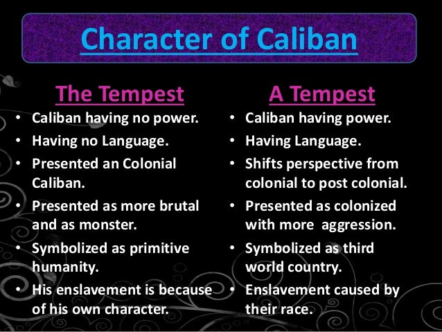 character analysis of caliban in the tempest by william shakespeare Lilla grindlay explores the character of miranda in act 3, scene 1 of the tempest, considering language, form and a feminist interpretation.