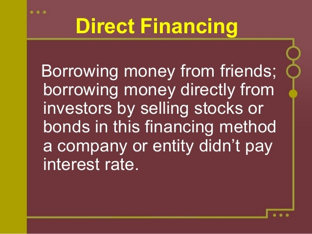 What is indirect finance? What does indirect finance mean.