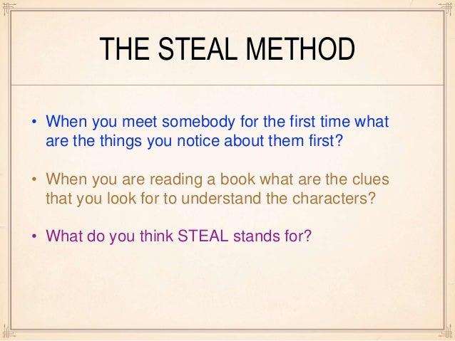 characterization steal method
