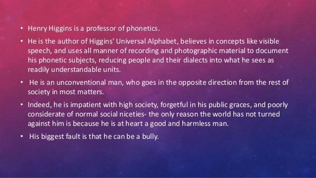 henry higgins character analysis