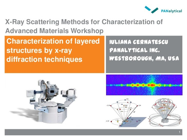 X-Ray Scattering Methods for Characterization of Advanced Materials Workshop<br />Characterization of layered structures b...