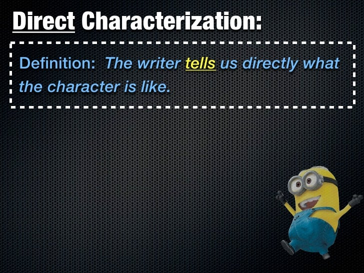 direct characterization definition