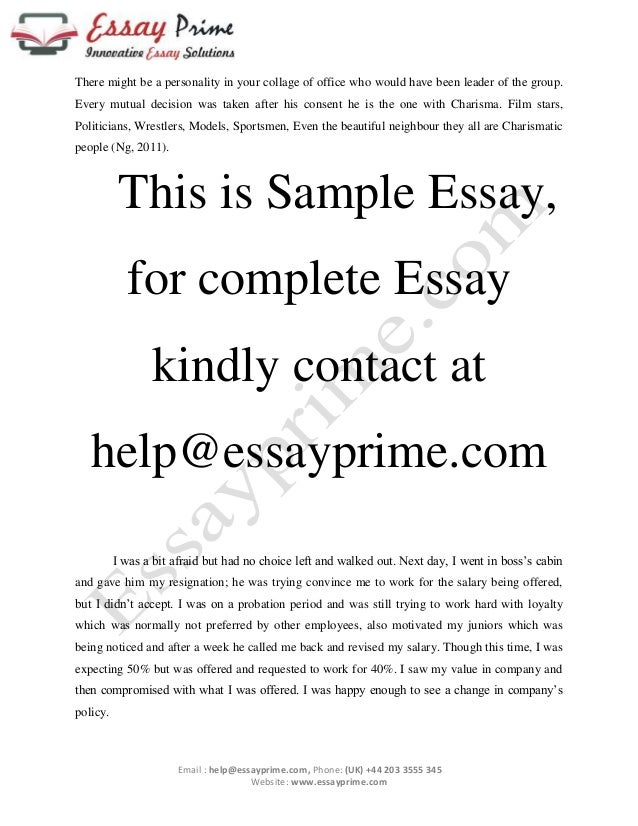 character or charisma essay sample  3