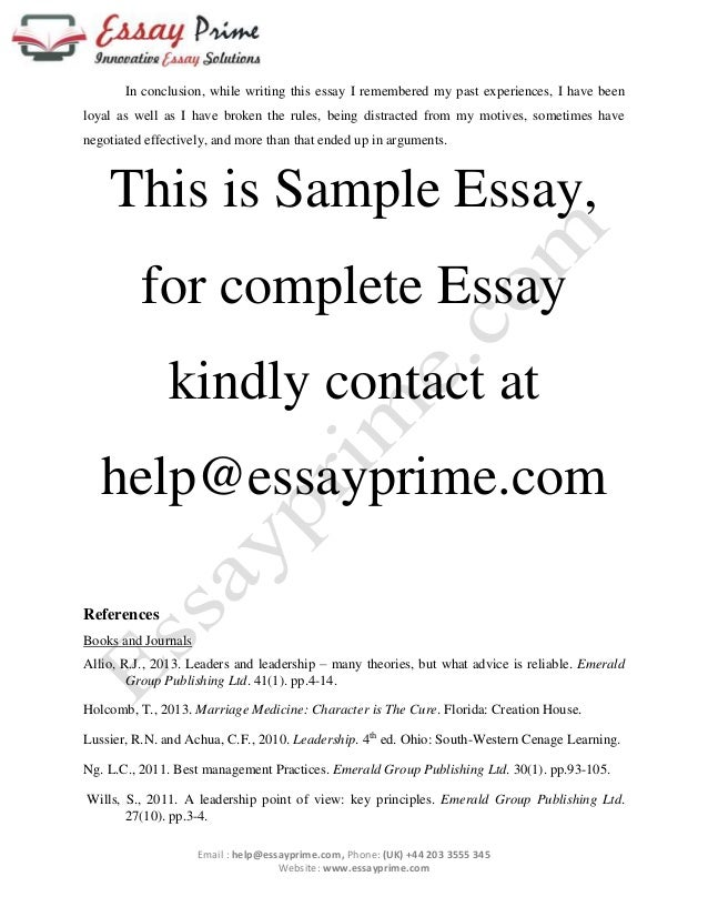 character or charisma essay sample  4