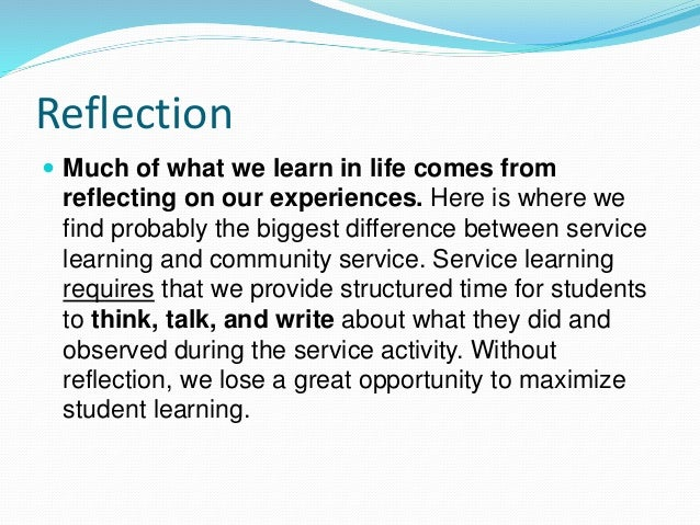 Essays on service learning