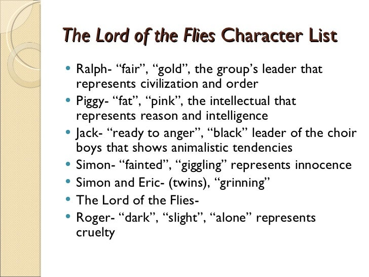 lord of the flies essay on piggy symbols