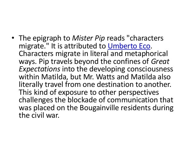 mister pip relationship essay How power is presented in 'mr pip the novel as she tries to dominate matilda in their relationship international baccalaureate world literature.