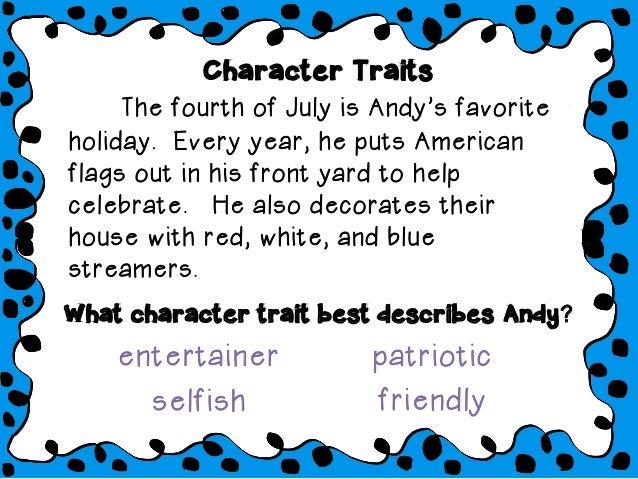 Character traits slideshow Slide 2