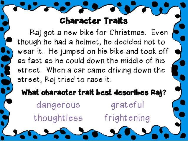 Character traits slideshow Slide 3