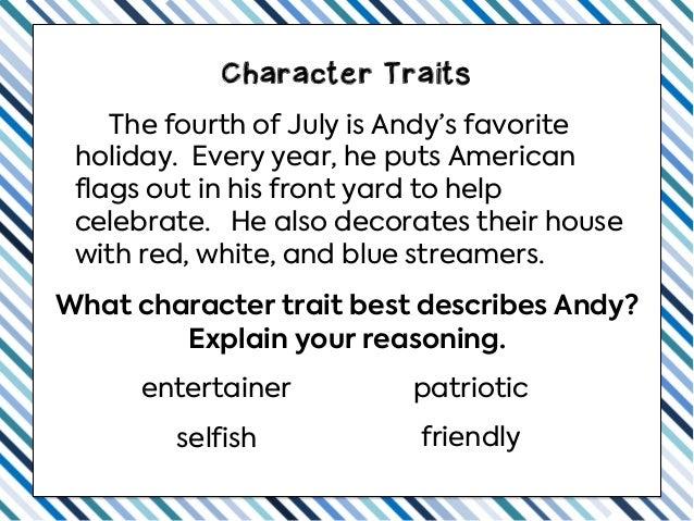 Teaching Character Traits Slideshow Slide 2