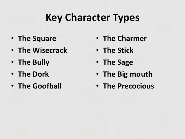 Character types in comedy