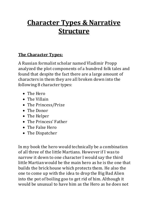 Character Types & Narative Structures