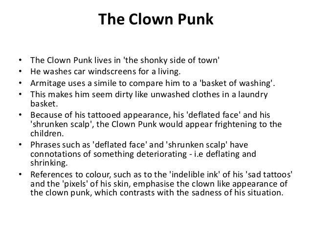 clown punk poem