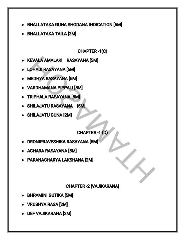 Charaka question paper list  Slide 2