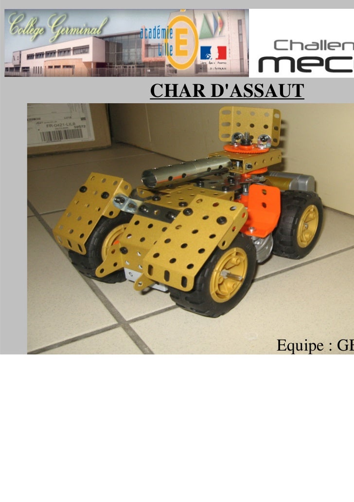 CHAR DASSAUT CHAR DASSAUT           Equipe : GER meccano1