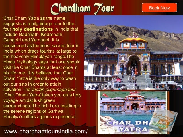 Char Dham Yatra as the name suggests is a pilgrimage tour to the four holy destinations in India that include Badrinath, K...