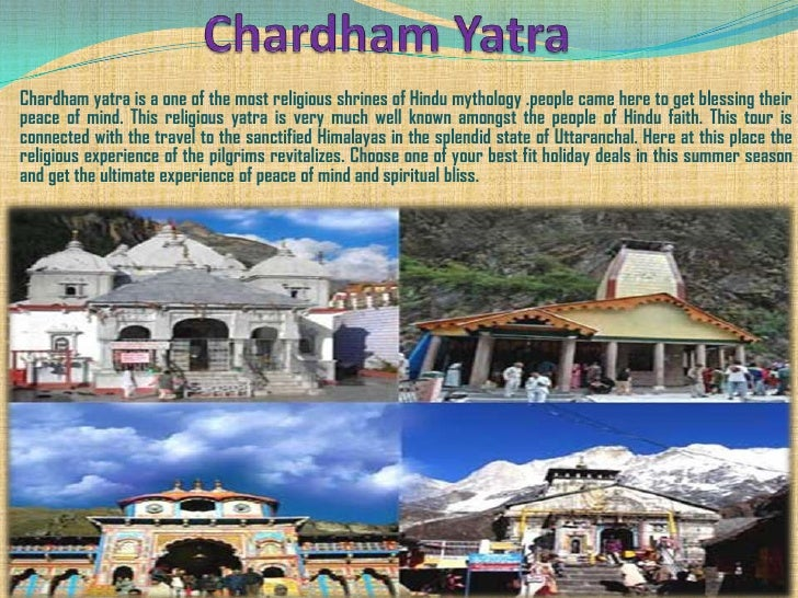 Chardham yatra is a one of the most religious shrines of Hindu mythology .people came here to get blessing theirpeace of m...