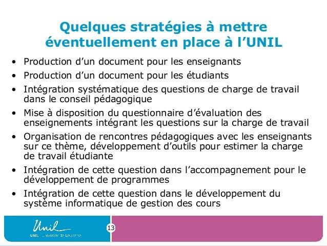 13Quelques stratégies à mettreéventuellement en place à l'UNIL• Production d'un document pour les enseignants• Production ...