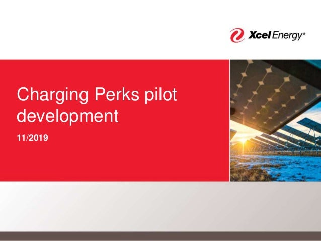 Charging Perks pilot development 11/2019