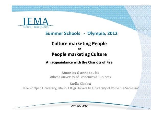 SummerSchools‐ Olympia,2012                     CulturemarketingPeople                     Culture marketing Peopl...