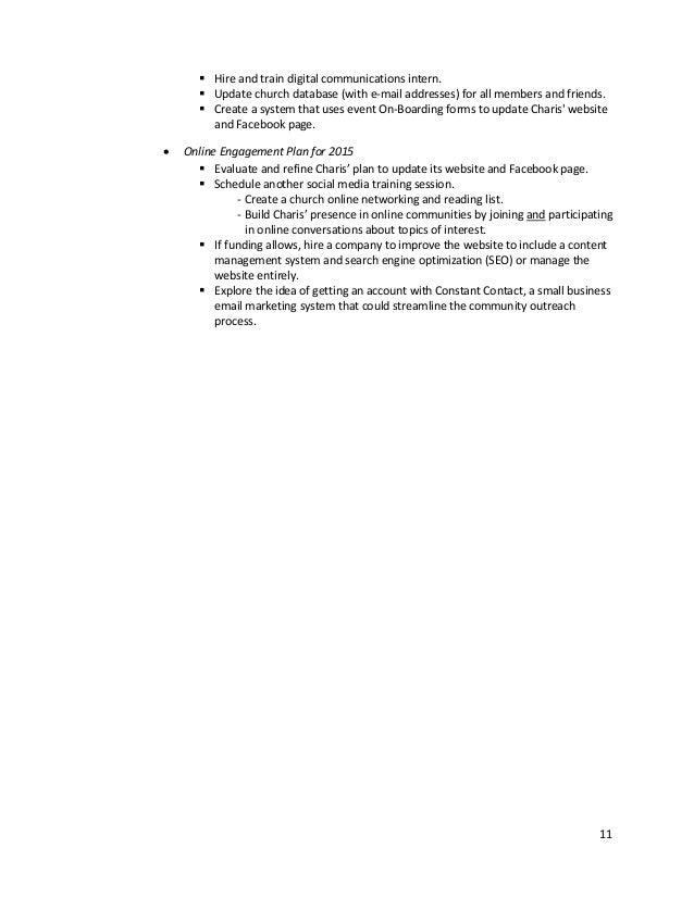 Blueprint for marketing communications at charis worship center minis 10 11 malvernweather Choice Image
