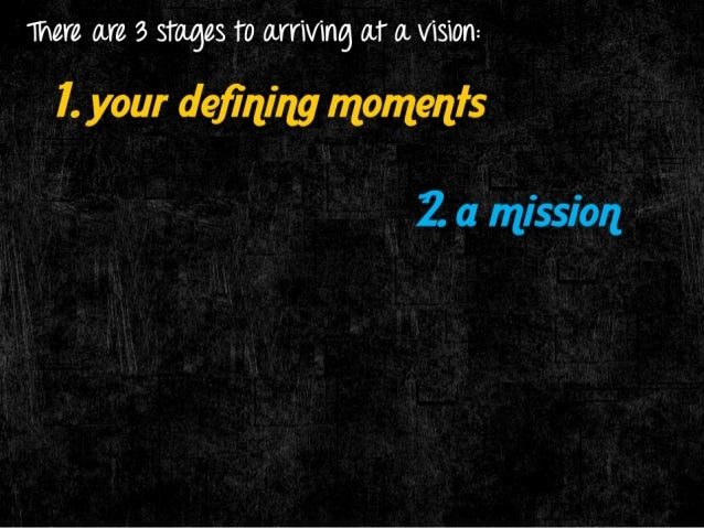 there are 3 stages 1'0 01111/1116 (LT 0. /131011:  l.  your defining momenfs  - That is when you realize you're on  somethi...