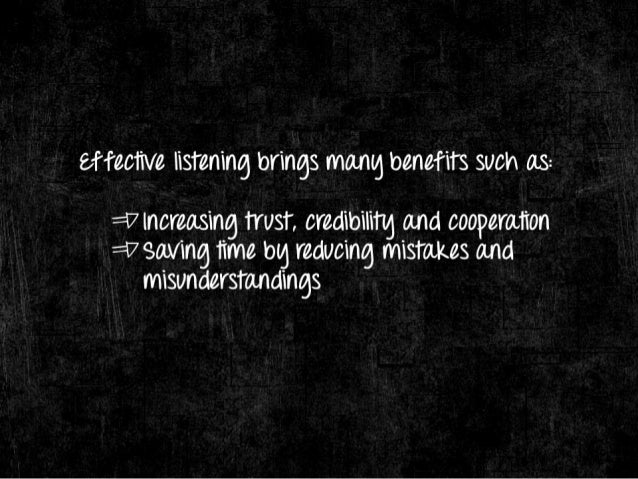 There are 3 reasons Whg people fail TO listen well: