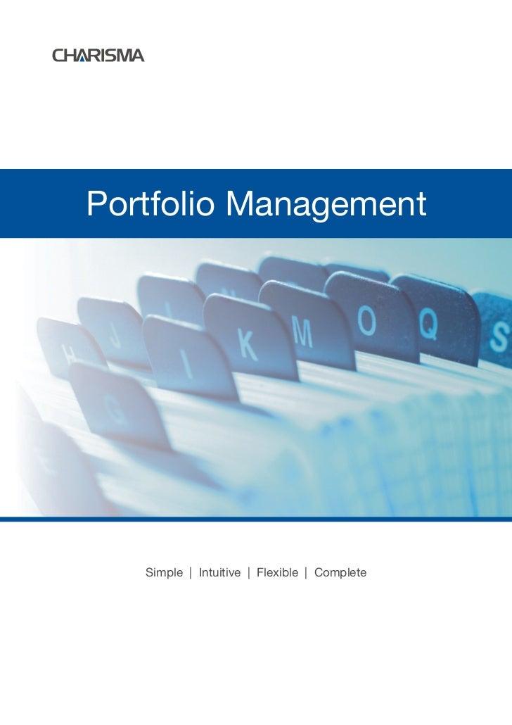 Portfolio Management   Simple | Intuitive | Flexible | Complete