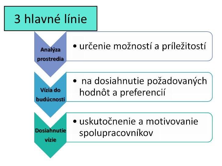 3 hlavné línie