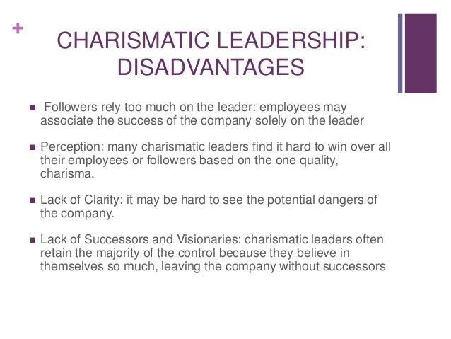 advantages and disadvantages of charismatic leadership pdf