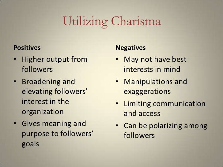 charisma and decisiveness in leaders Michelle evans-curtis nova southeastern university transformational leaders have charisma leaders may often be defined by their decisiveness and ability to.