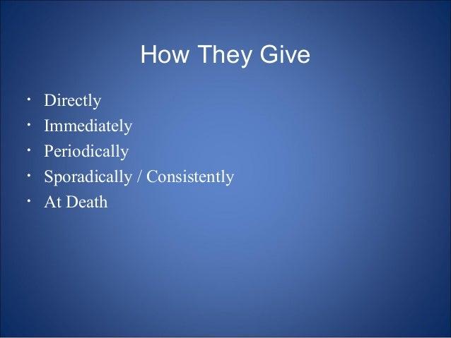 Charitable giving seminar for donors Josh Meier Presentation