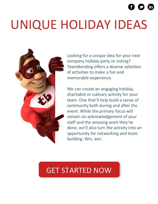 Company Christmas Party Game Ideas Part - 20: ... 5. UNIQUE HOLIDAY IDEAS ...