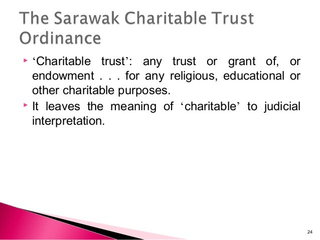 the origin of charitable trust The issue in caesar's first will might falls under charitable trust for the meaning of religion in order to be regarded as charitable, a trust must.