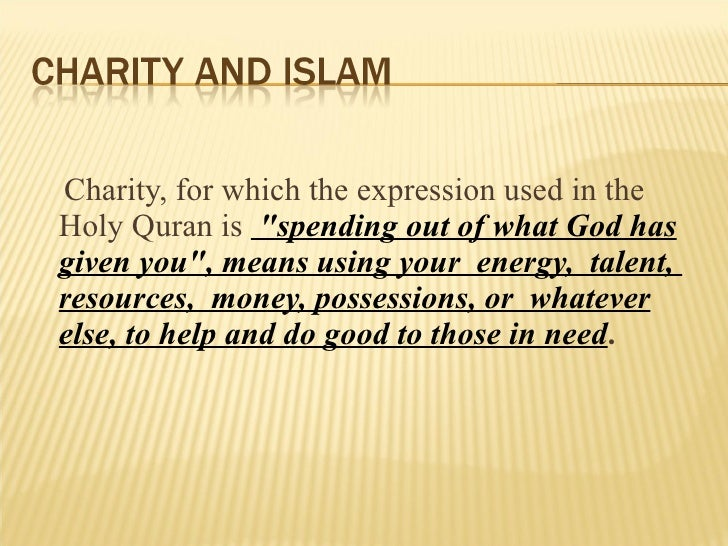 charity and islam presentation