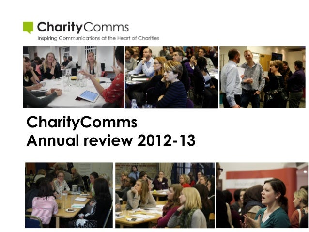 CharityComms Annual review 2012-13