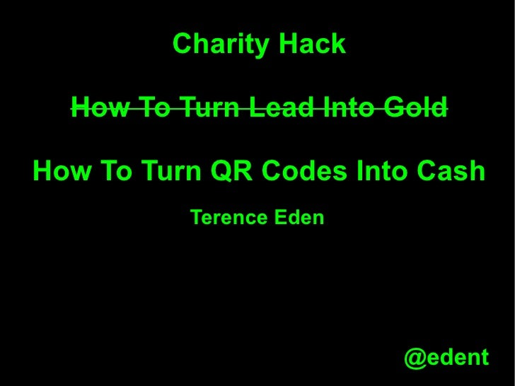 Charity hack   qr codes