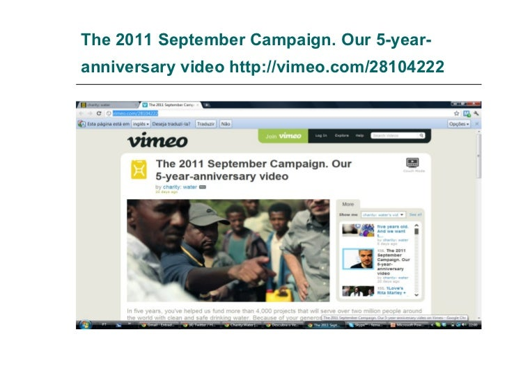 The 2011 September Campaign. Our 5-year-anniversary video  http://vimeo.com/28104222