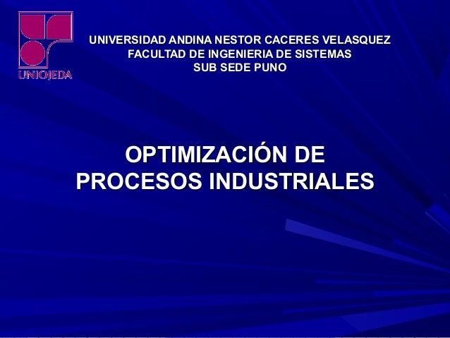 UNIVERSIDAD ANDINA NESTOR CACERES VELASQUEZUNIVERSIDAD ANDINA NESTOR CACERES VELASQUEZ FACULTAD DE INGENIERIA DE SISTEMASF...